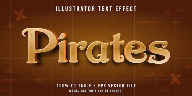 Editable text effect - pirates text style