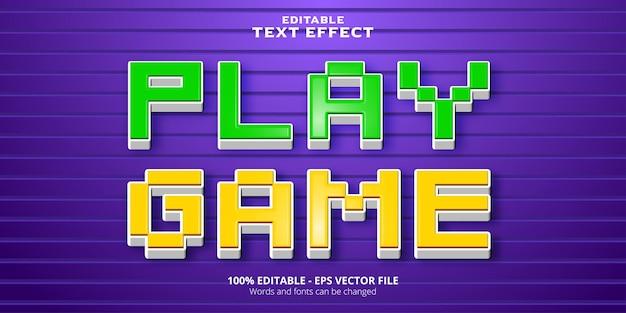 편집 가능한 텍스트 효과 픽셀 스타일 플레이 게임 텍스트