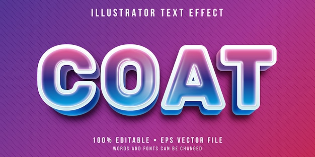 Editable text effect - plastic coating style