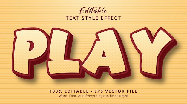 Editable text effect, play text on headline comic style effect