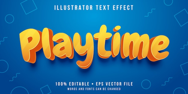 Editable text effect - playful text style