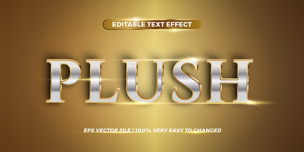 Editable text effect - plush word style  concept