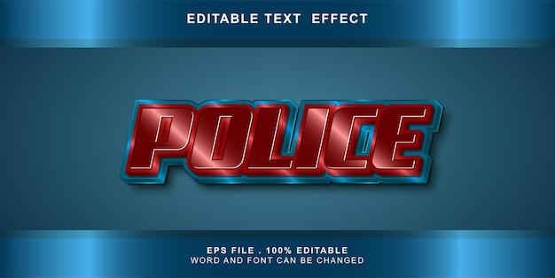 편집 가능한 텍스트 효과 경찰