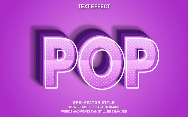 Редактируемый текстовый эффект pop purple