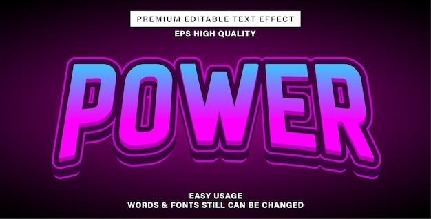 Редактируемый текстовый эффект power esports