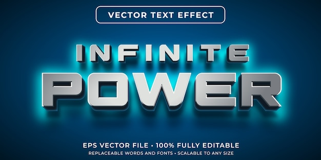 Editable text effect in power glow style