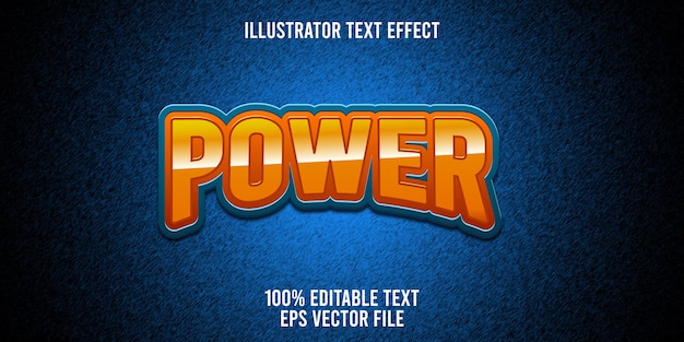 Editable text effect power lettering   style