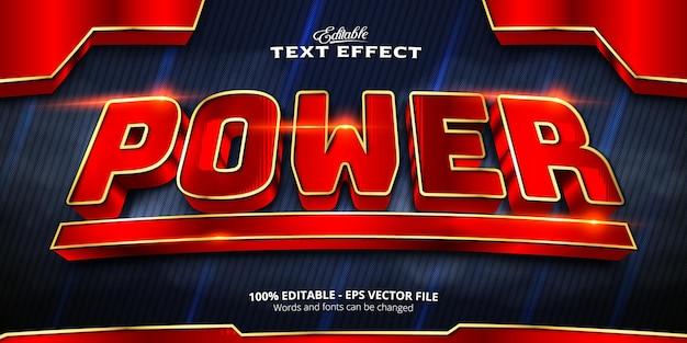 Editable text effect, power text