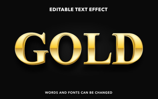Editable text effect for premium gold