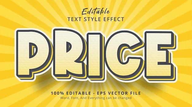 편집 가능한 텍스트 효과, 인기 있는 헤드라인 포스터 색상 스타일의 가격 텍스트