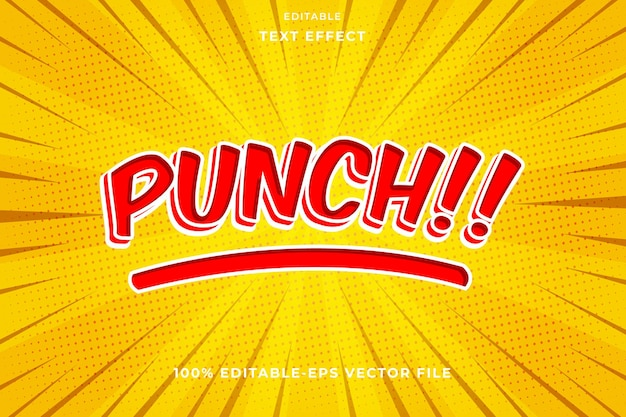 Editable text effect punch comic style