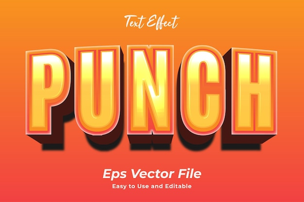 Editable text effect punch