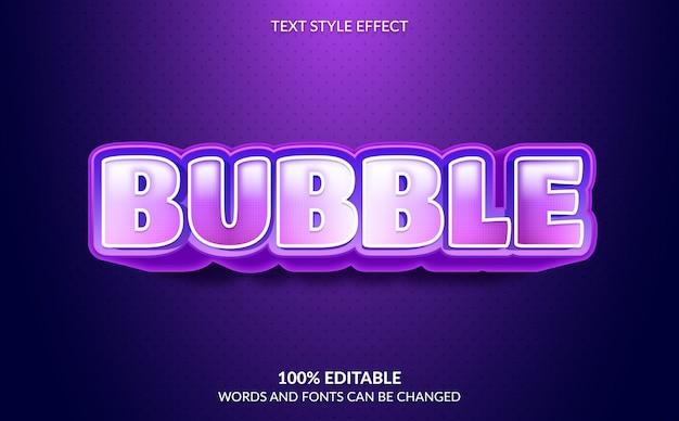 Editable text effect, purple bubble text style