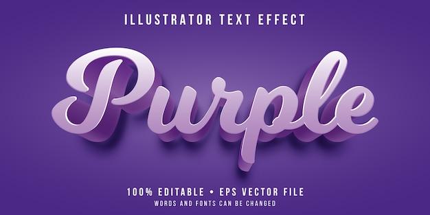 Editable text effect - purple color style