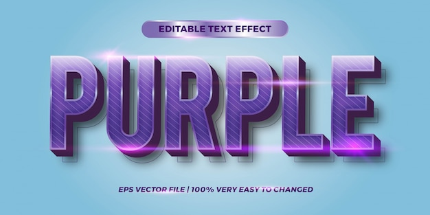 Editable text effect - purple text style