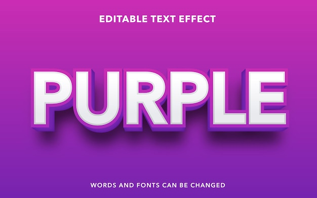 Editable text effect for purple