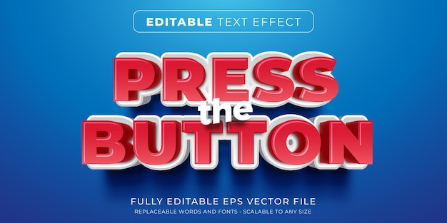 Editable text effect in push button style
