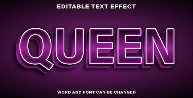 Editable text effect - queen