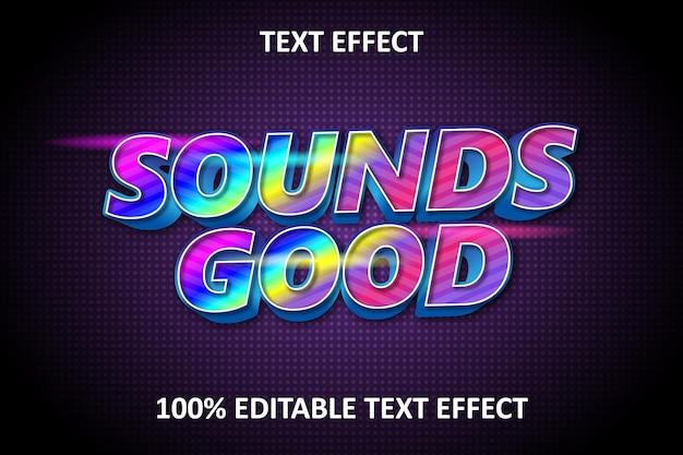 Editable text effect rainbow light new