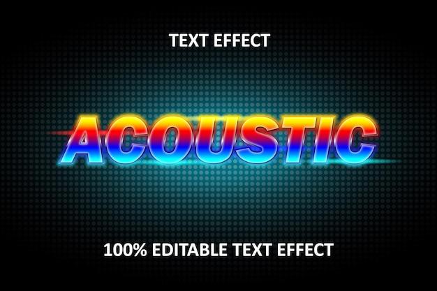 Editable text effect rainbow light