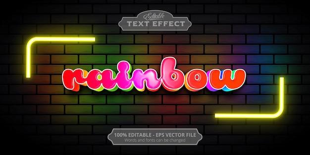Editable text effect, rainbow text