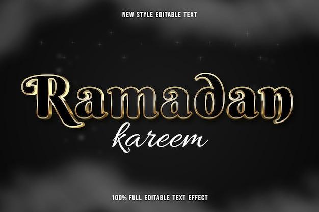 Editable text effect ramadan kareem color gold