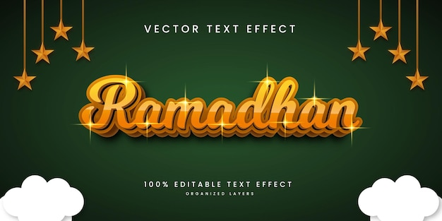 Editable text effect in ramadhan style