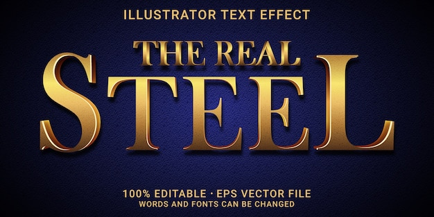 Editable text effect - the real steel style