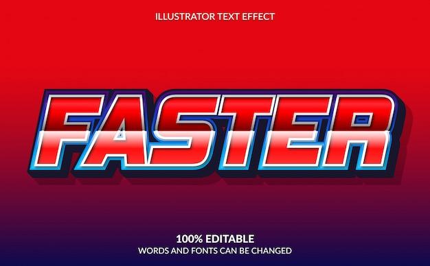 편집 가능한 텍스트 효과, 빨간색 빠른 텍스트 스타일