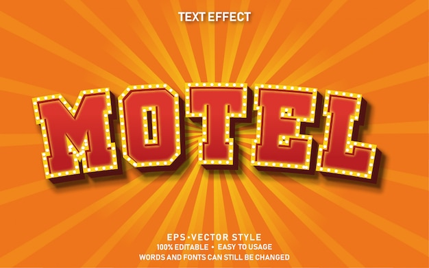 Editable text effect red motel