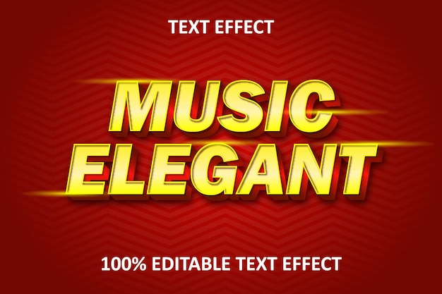Editable text effect red yellow