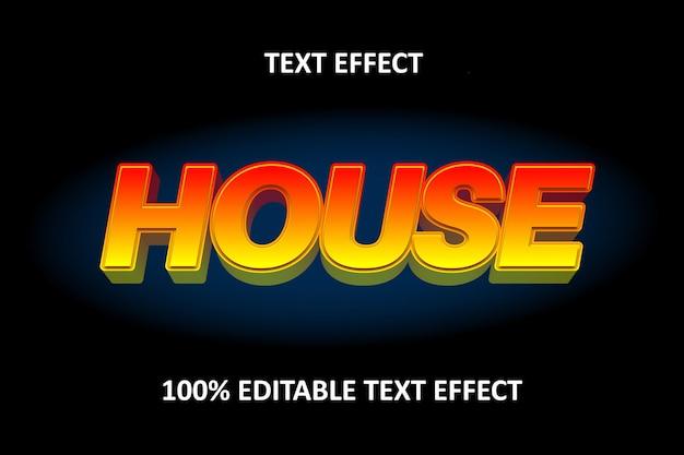 Редактируемый текстовый эффект красный желтый
