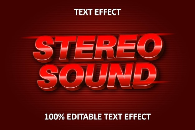 Editable text effect red