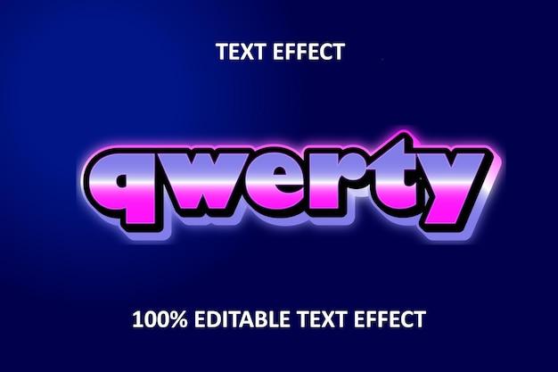 Editable text effect retro big