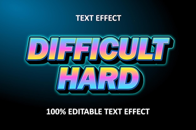 Редактируемый текстовый эффект ретро синий розовый желтый