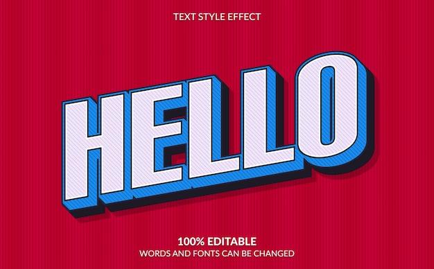 Editable text effect, retro comic text style