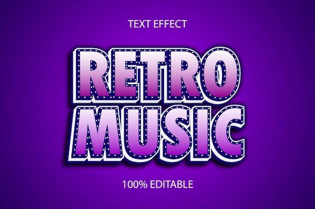 Редактируемый текстовый эффект ретро музыка цвет синий