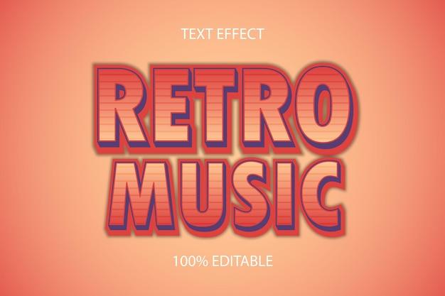 Редактируемый текстовый эффект retro music color orange cream