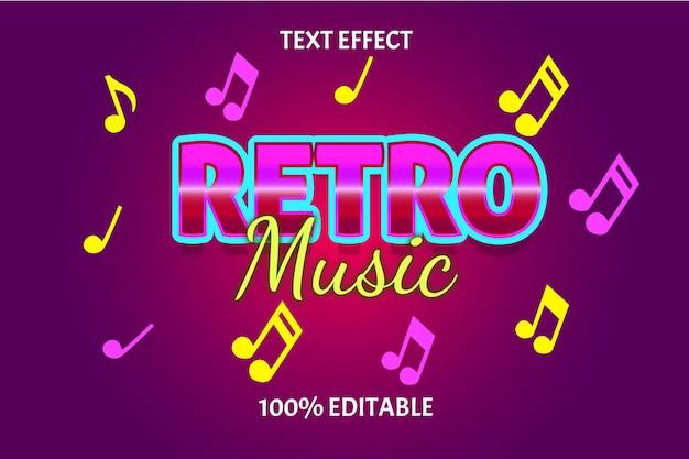 Редактируемый текстовый эффект ретро музыка
