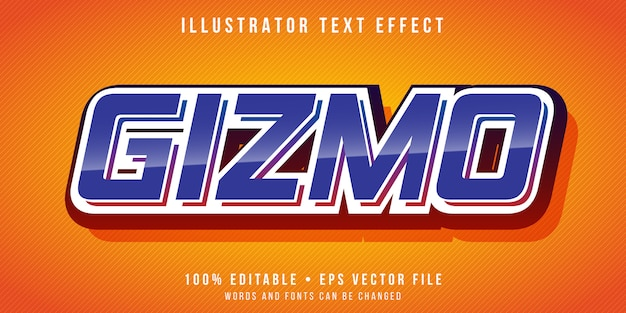 Editable text effect - retro tech style