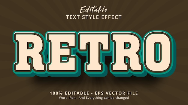 Editable text effect, retro text on army vintage color style effect