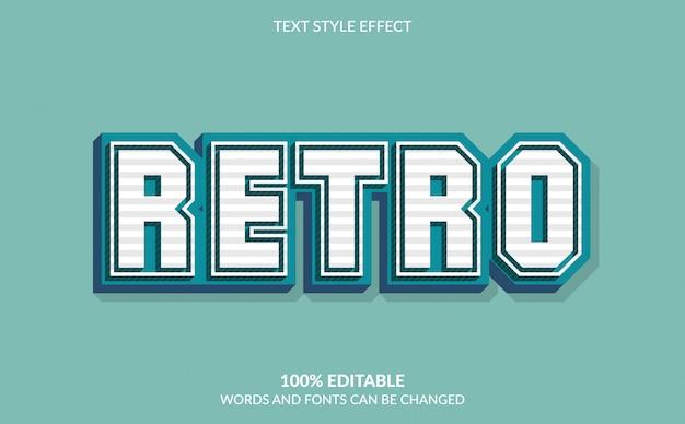 Редактируемый текстовый эффект, стиль ретро текста