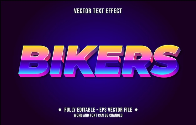 Editable text effect retro vintage style poster old film