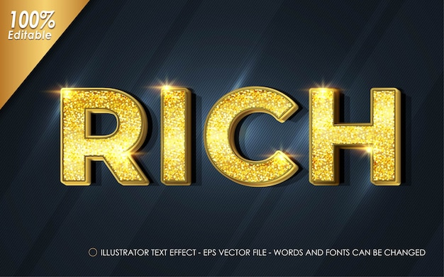 Editable text effect, rich style illustrations