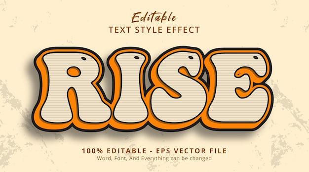 편집 가능한 텍스트 효과, 클래식 만화 스타일 효과의 텍스트 상승