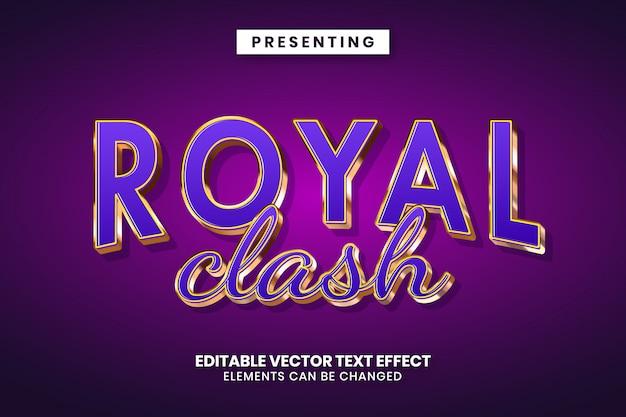Редактируемый текстовый эффект - королевский роскошный стиль игры