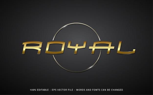 Editable text effect royal style illustrations