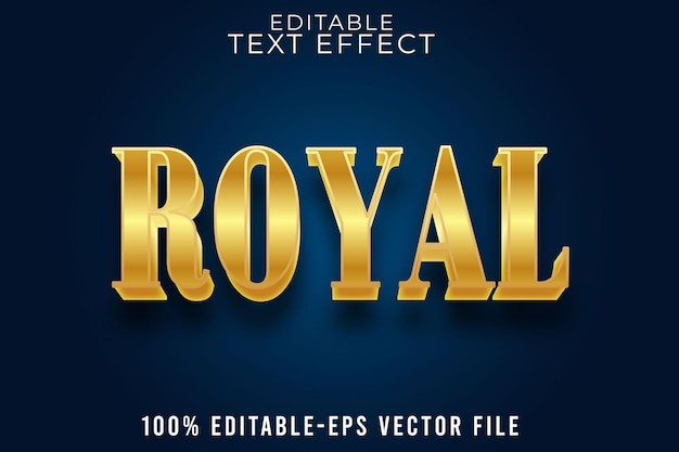 Editable text effect royal with luxury style
