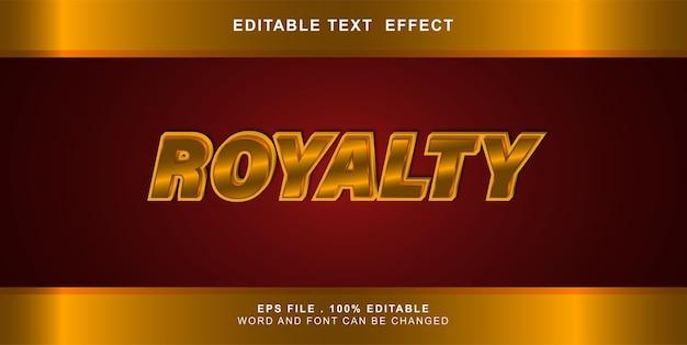 Редактируемый текстовый эффект роялти