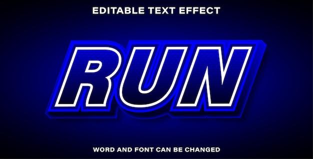 Редактируемый текстовый эффект - запустить